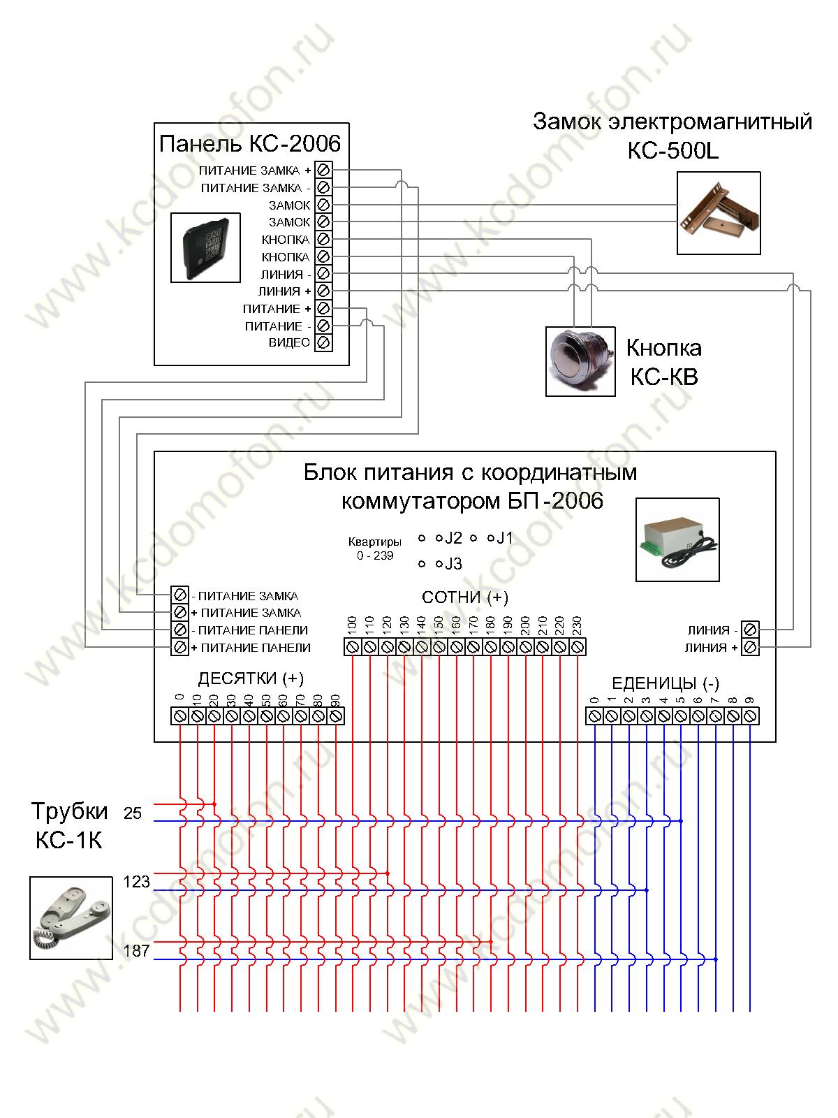 Координатный коммутатор сом-80 подключение схема